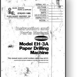 Challenge EH-3A Paper Drill EH3A Manual | Other Files | Documents and Forms