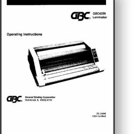 GBC 4250/425/426 Laminator Operator's & Parts Manual | Other Files | Documents and Forms
