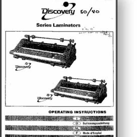 GBC Discovery Series Laminator Operator's Manual | Other Files | Documents and Forms