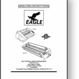 GBC Eagle 35 / 65 / 105 Operator's & Parts Manual | Other Files | Documents and Forms