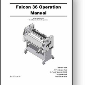 GBC Falcon 36 Operator's & Parts Manual | Other Files | Documents and Forms