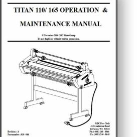 GBC Titan 110 / 165 Operator's & Service Manual | Other Files | Documents and Forms