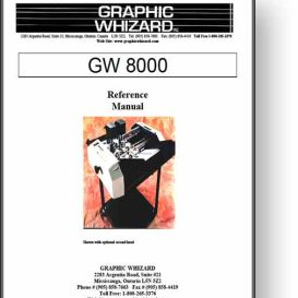 Graphic Whizard GW 8000 Numbering Operator's Manual | Other Files | Documents and Forms