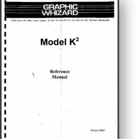 Graphic Whizard K2 Numbering Machine Operator's Manual | Other Files | Documents and Forms