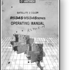 Hamada RS34S / VS34S Satellite Operator's Manual | Other Files | Documents and Forms