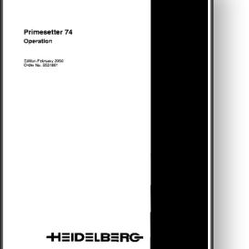 Heidelberg Primesetter 74 + Computer To Plate Manual | Other Files | Documents and Forms