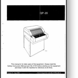 Heidelberg QP-20 Film Processor Operator's Manual | Other Files | Documents and Forms