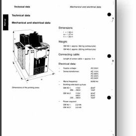 Heidelberg Quickmaster 46-2 Operator's and Parts Manual | Other Files | Documents and Forms