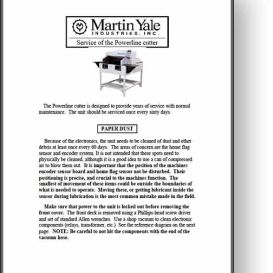 Martin Yale Powerline 215 / 265 Paper Cutter Manual   Other Files   Documents and Forms