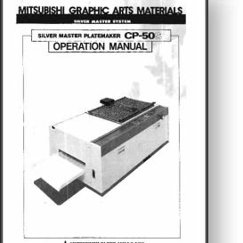 Mitsubishi CP-50S Master Platemaker Operator's Manual | Other Files | Documents and Forms