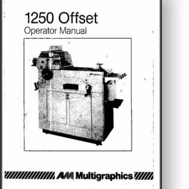 Multi 1250 Operator's and Service Manual | Other Files | Documents and Forms