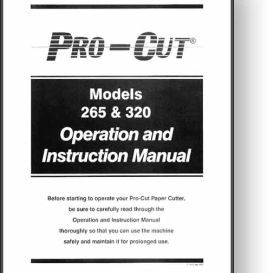 pro-cut 265 / 320 paper cutter operator's manual