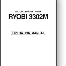 Ryobi 3302 Operator's Manual | Other Files | Documents and Forms