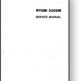 Ryobi 3302 Service + Parts + Wiring Manual | Other Files | Documents and Forms