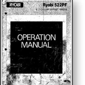 Ryobi 522 Operator's and Parts Manual | Other Files | Documents and Forms