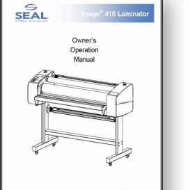 Seal Image 410 Laminator Operator's + Service Manual | Other Files | Documents and Forms