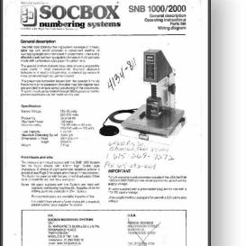 SOCBOX SNB1000 / 2000 Numbering Machine Manual | Other Files | Documents and Forms