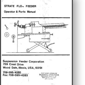 Strate Flo Envelope Feeder Operator's & Parts Manual | Other Files | Documents and Forms