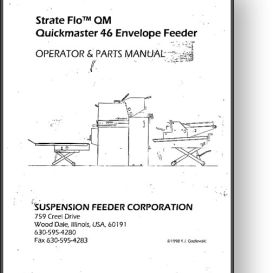 Strate Flo Quickmaster 46 Envelope Feeder Manual | Other Files | Documents and Forms