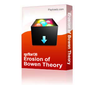 Erosion of Bowen Theory | Other Files | Documents and Forms