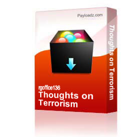 Thoughts on Terrorism | Other Files | Documents and Forms