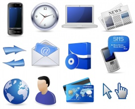 Vectorlib RF (Standard License): Business website icon set - blue
