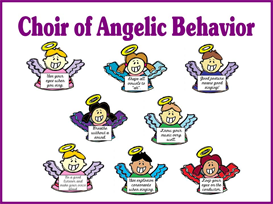 Choir of Angelic Behavior Bulletin Board Kit | Other Files | Patterns and Templates