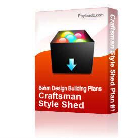 craftsman style shed plan #17