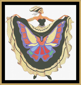 Le Papillon - Cross Stitch Download | Crafting | Cross-Stitch | Wall Hangings