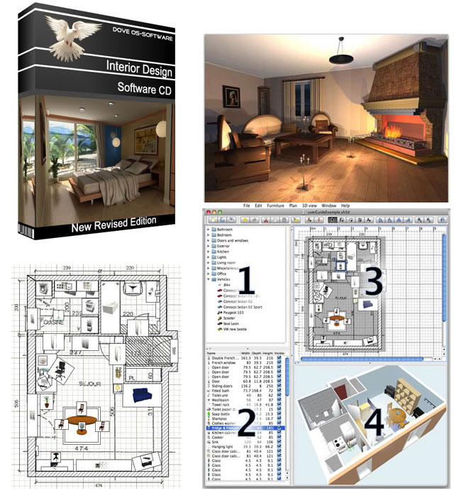 3d interior design cad house home designer software software design for Interior decorating software free