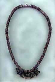 bead crochet necklace with jabot pattern