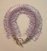 Lavender Caterpillar Bracelet-Bead Crochet Pattern | eBooks | Arts and Crafts