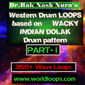 WESTERN DRUMS LOOPS with INDIAN DOLAK pattern- PART -1 | Music | Alternative