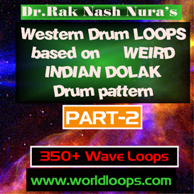 Western Drums in WERID INDIAN DOLAK Pattern - Part-2 | Music | Soundbanks