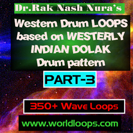 Western Drums in WESTERLY  INDIAN DOLAK Pattern - Part-3 | Music | Soundbanks