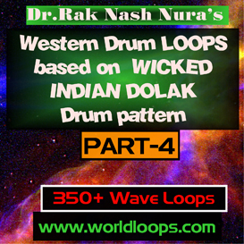 Western Drums in Wicked  INDIAN DOLAK Pattern - Part-4 | Music | Soundbanks