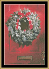 Holiday Door - Cross Stitch Download | Crafting | Cross-Stitch | Other
