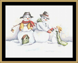 Snow Family - Cross Stitch Download | Crafting | Cross-Stitch | Other