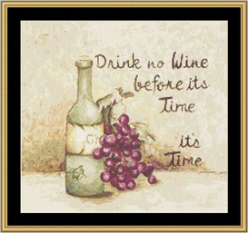 Drink No Wine - Cross Stitch Download | Crafting | Cross-Stitch | Other