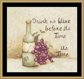 Drink No Wine - Cross Stitch Download | Crafting | Cross-Stitch | Other