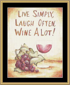 Wine A Lot - Cross Stitch Download | Crafting | Cross-Stitch | Other