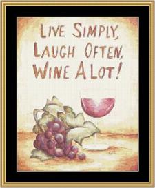 Wine A Lot - Cross Stitch Download | Crafting | Cross-Stitch | Other