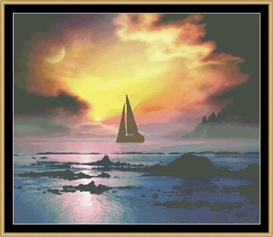 Sunset Sail - Cross Stitch Download | Crafting | Cross-Stitch | Other