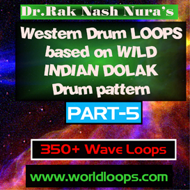 Western Drums in WILD INDIAN DOLAK Pattern - Part-5 | Music | Soundbanks