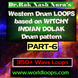 Western Drums in WITCHY  INDIAN DOLAK Pattern - Part-6 | Music | Soundbanks