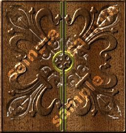 fancy door all wood