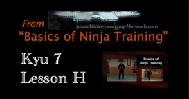 Ninjutsu 7th Kyu Lesson H - KATANA PARTS AND CUSTOMS - Basics of Ninja Training