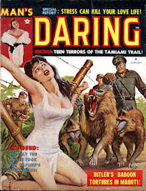 Complete MAN'S DARING magazine, January 1962
