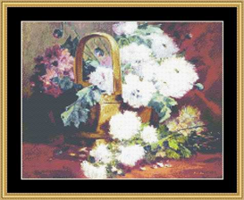 Still Flowers In A Basket | Crafting | Cross-Stitch | Other
