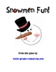snowman fun and games for reading and math!